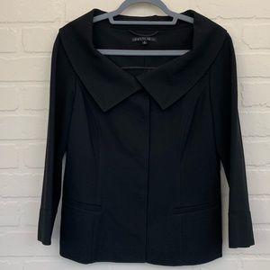 Lafayette 148 New York black large collar jacket 8